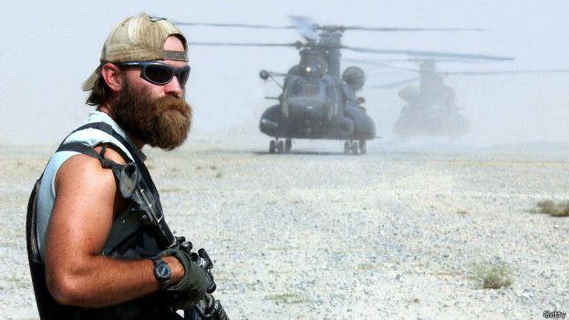 Un soldado estadounidense en Afganistán