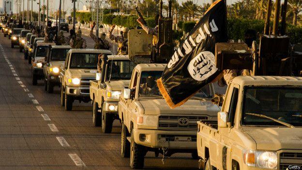 Caravana de EI en Libia