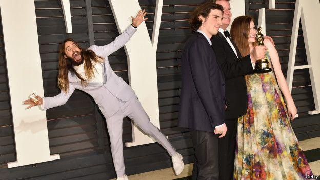 Photobomb de Jared Leto en la gala de los Oscar.