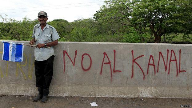 Protesta contra el Canal