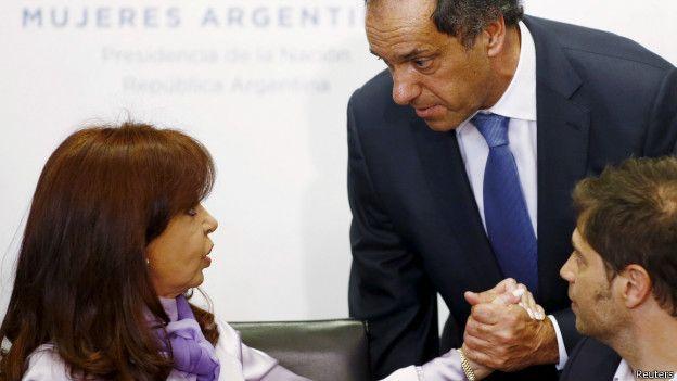 Cristina Fernández junto a Daniel Scioli