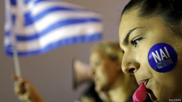 Partidarios del sí en Grecia