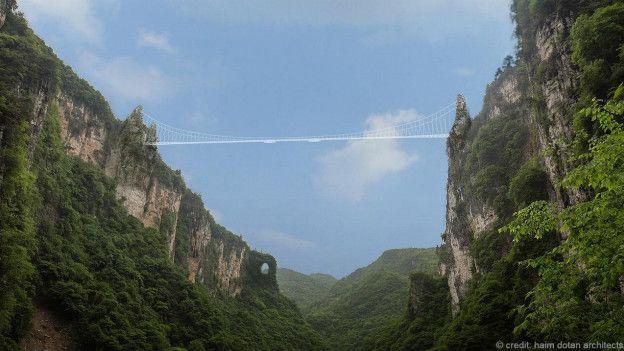 El Puente de Cristal del Gran Cañón de Zhangjiajie, China