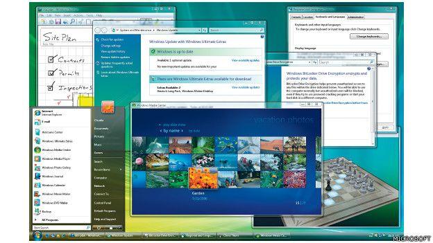 Imagen de la navegación con el Windows Vista de Microsoft, lanzado en 2006