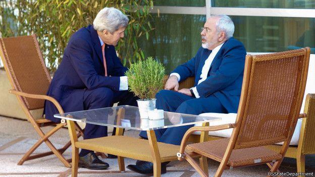 محمدجواد ظریف و جان کری