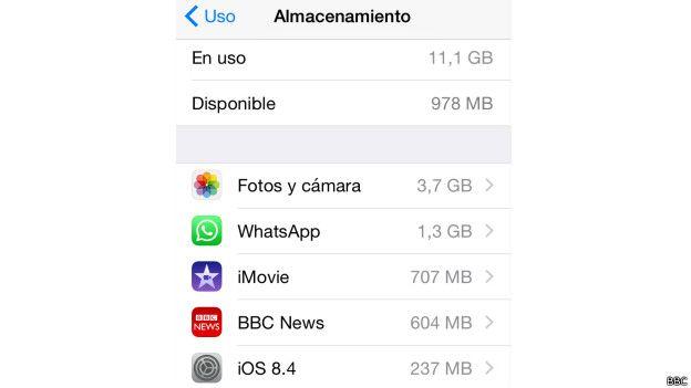 Como liberar espacio en mi iphone 6 plus