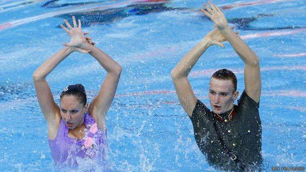 Rusos en nado sincronizado