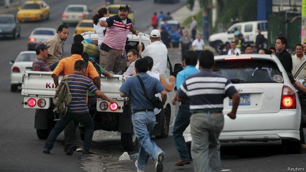 Paro, pandillas, El Salvador