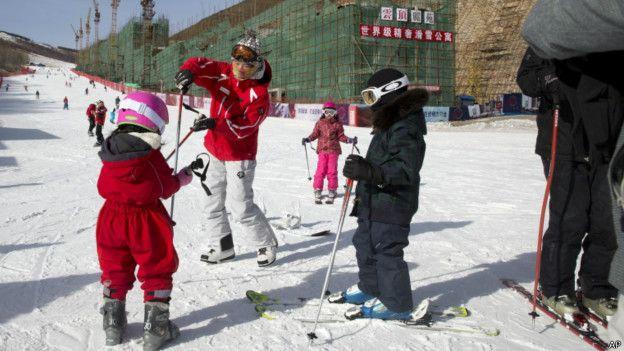 Снег на китайском горнолыжном курорте