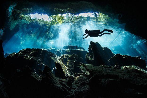 Cueva submarina en México
