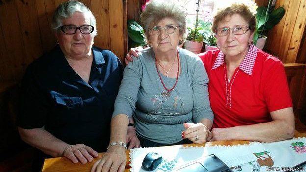 De izquierda a derecha, Ardmidia, Erminia e Iolanda, las protagonistas de esta historia.