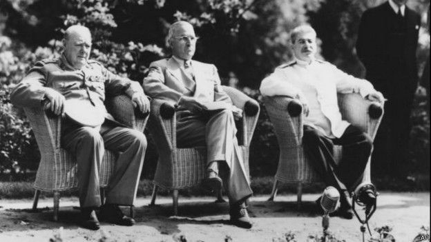 Churchill, Truman y Satalin