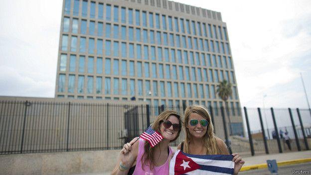 Estudiantes estadounidenses de intercambio en La Habana
