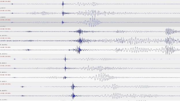 Gráfico sonoro de la primera explosión