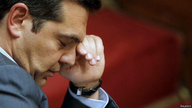 Премьер-министр Греции Ципрас в парламенте