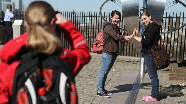 Turistas en Greenwich
