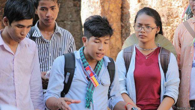 Kong Raiya, sinh viên Campuchia. (Ảnh từ Facebook cá nhân)