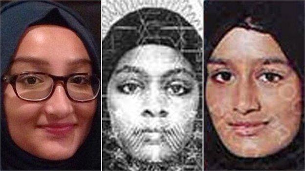 Kadiza Sultana, Amira Abase y Shamima Begum cruzaron a través de Turquía hacia Siria para unirse al EI