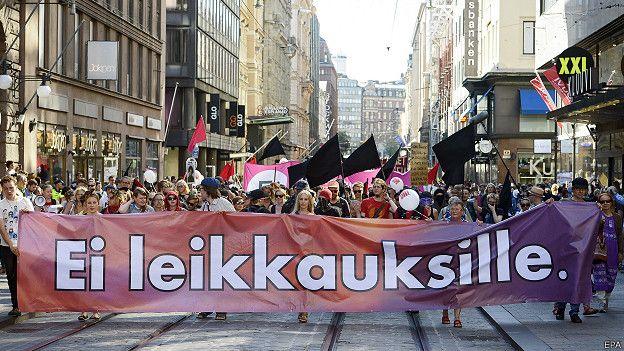 finlandia, protesta