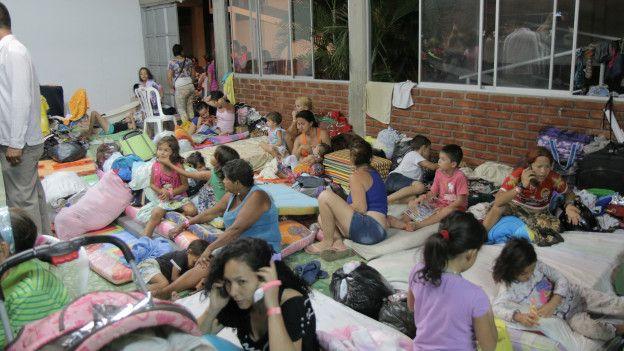 Albergue de desplazados colombianos en Cúcuta