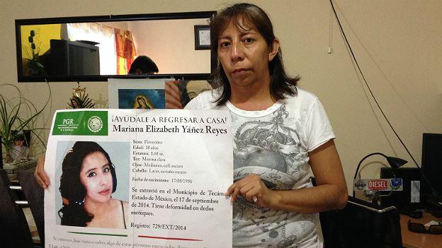 Guadalupe Reyes, madre de una desaparecida