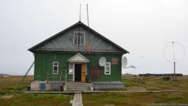 Estación climática en el ártico