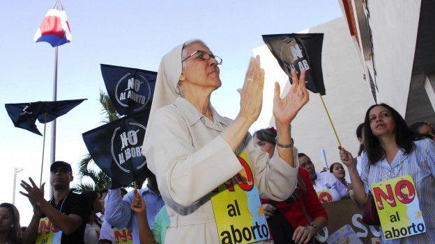 Protesta contra el aborto en República Dominicana