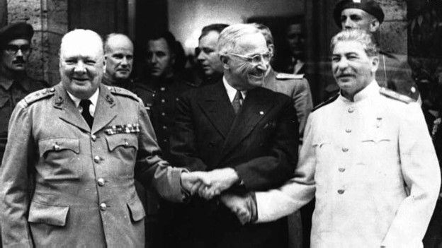 Churchill, Truman y Stalin