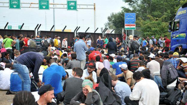 Protesta de inmigrantes