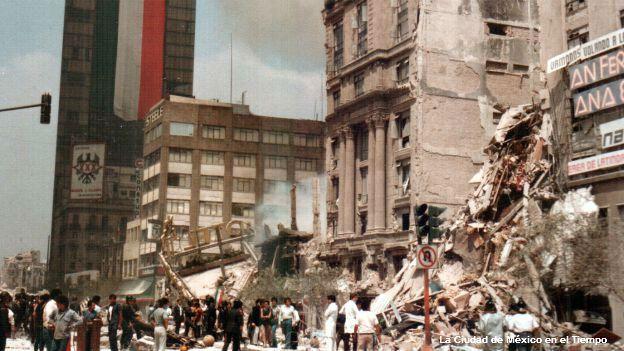 Hotel Regis, colapsado por el sismo de 1985.