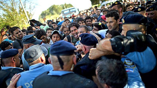 Беспорядки на границе Хорватии