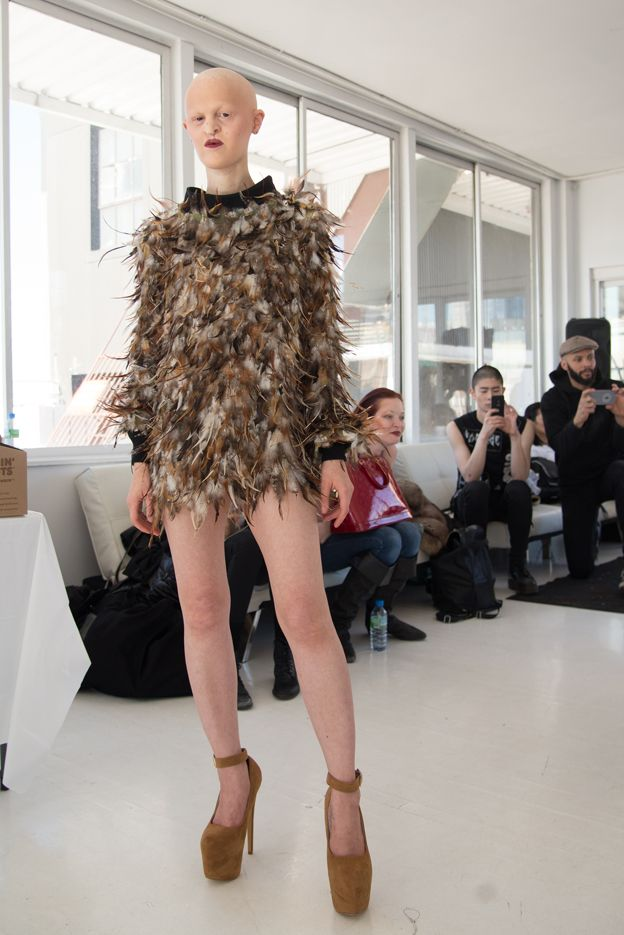 Melanie Goydos durante un desfile de moda en 2015.
