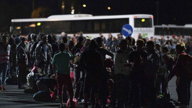 Мигранты на австрийско-венгерской границе