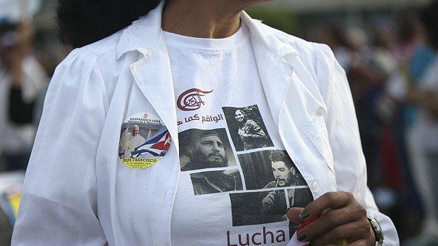 Polera de Fidel, el Che y Francisco