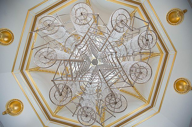 Ai Weiwei, Bicycle Chandelier,
