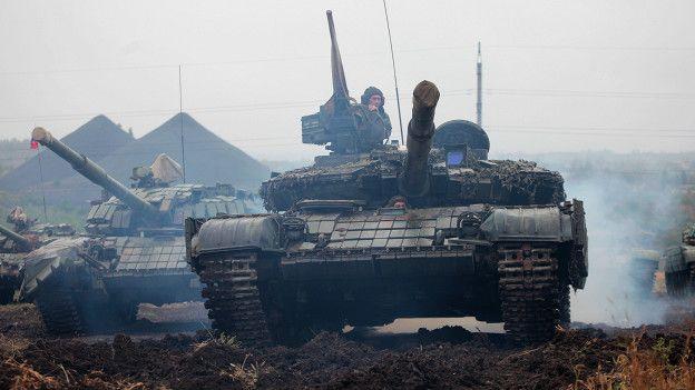 Танки вооруженных сторонников ДНР
