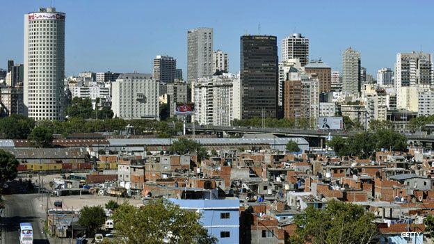 Villa miseria en Buenos Aires.