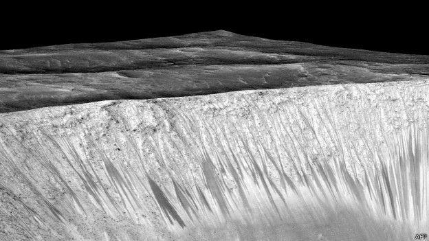 मंगल ग्रह पर लकीरें