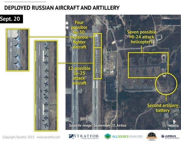 Imagen satelital analizada por Stratfor