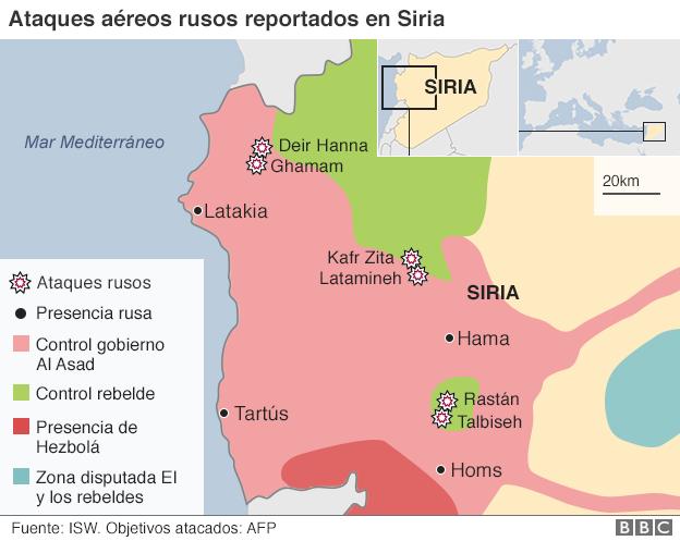 ataques aéreos en Rusia