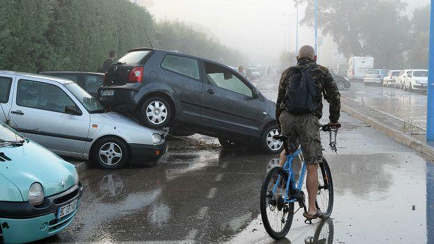 Последствия наводнения на французской Ривьере