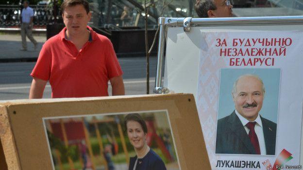 Áp phích vận động bầu cử tại Belarusia