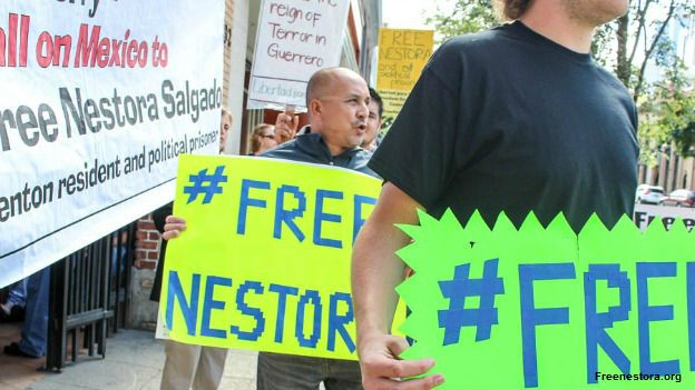 Protestas por la liberación de Nestora Salgado