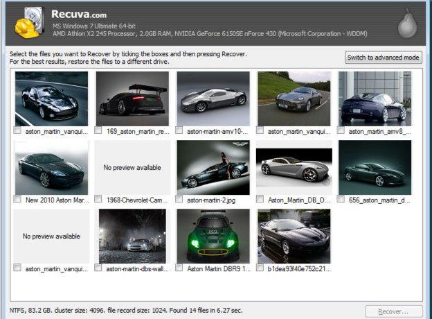Recuva es un programa que permite recuperar archivos que fueron borrados.