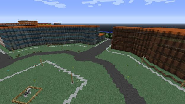 Así luce un pedacito de Dinamarca en Minecraft.