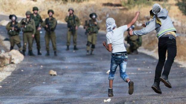 Tensión entre palestinos y fuerzas israelíes