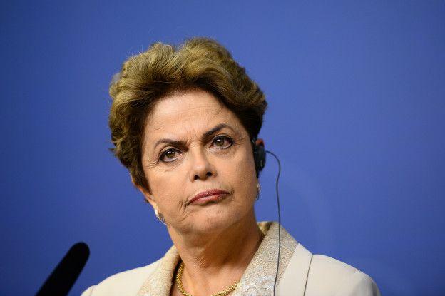 Presidenta brasileña, Dilma Rousseff, durante un reciente acto público.