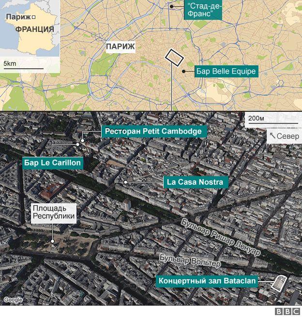 Карта нападений