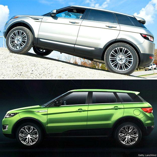 Range Rover Evoque y LandWind X7