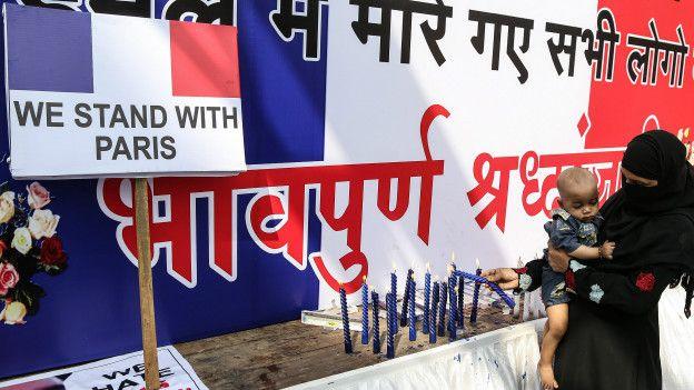 Manifestación en India